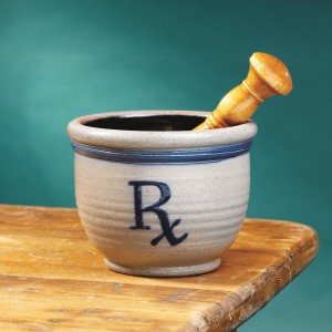 Rx Salt Glazed Mortar Pestle PK104-1A